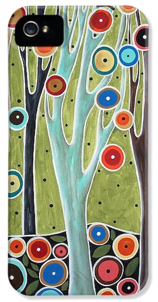 Tree Blooms And Birds IPhone 5 Case by Karla Gerard