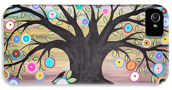 Tree Of Life And Bird IPhone 5 Case by Karla Gerard