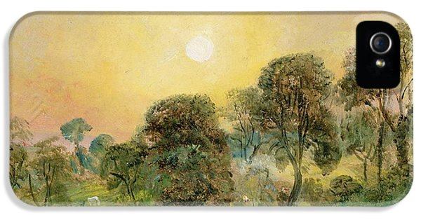 Trees On Hampstead Heath At Sunset IPhone 5 Case by John Constable