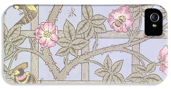 Trellis   Antique Wallpaper Design IPhone 5 / 5s Case by William Morris