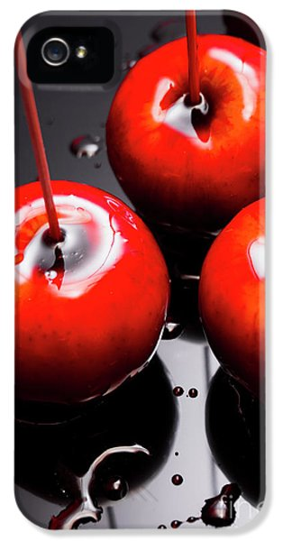 Trio Of Bright Red Home Made Candy Apples IPhone 5 Case