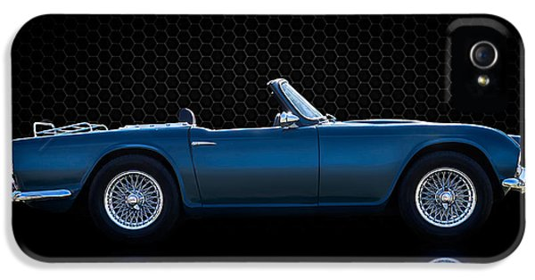 Spider iPhone 5 Case - Triumph Tr4 by Douglas Pittman