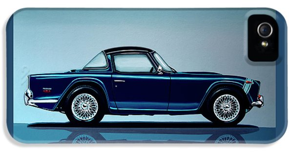 Triumph Tr5 1968 Painting IPhone 5 Case by Paul Meijering