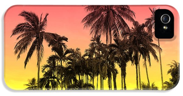 Flowers iPhone 5 Case - Tropical 9 by Mark Ashkenazi