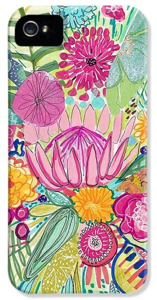 Flowers iPhone 5 Case - Tropical Foliage by Rosalina Bojadschijew