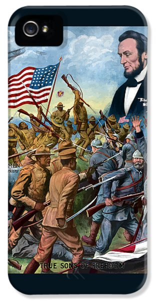 True Sons Of Freedom -- Ww1 Propaganda IPhone 5 / 5s Case by War Is Hell Store