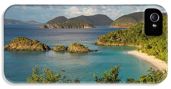 IPhone 5 Case featuring the photograph Trunk Bay Morning by Adam Romanowicz