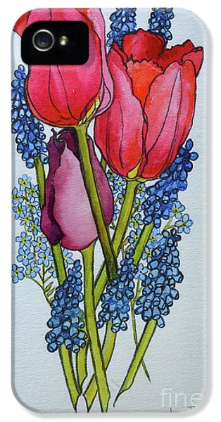 Tulips, Muscari And Forget-me-nots IPhone 5 Case