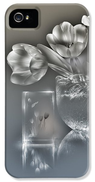 Tulips, Silver Variant IPhone 5 Case