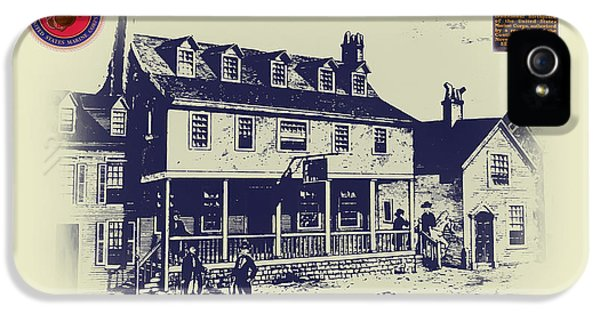 Philadelphia iPhone 5 Case - Tun Tavern - Birthplace Of The Marine Corps by Bill Cannon
