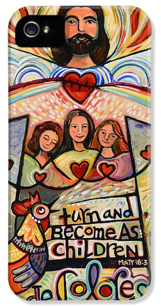 Turn And Become As Children IPhone 5 / 5s Case by Jen Norton