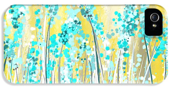 Turquoise And Yellow IPhone 5 Case