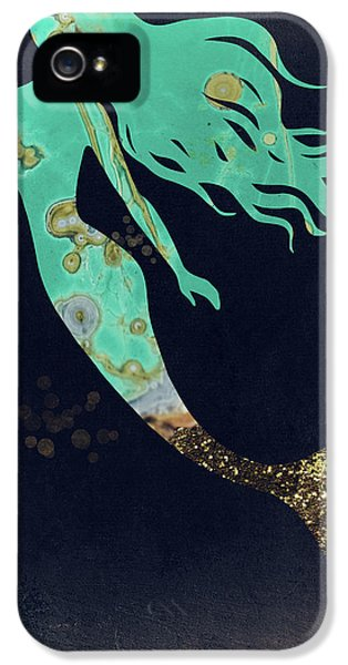 Mermaid iPhone 5 Case - Turquoise Mermaid by Mindy Sommers