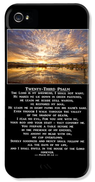 Twenty-third Psalm Prayer IPhone 5 Case by James BO  Insogna