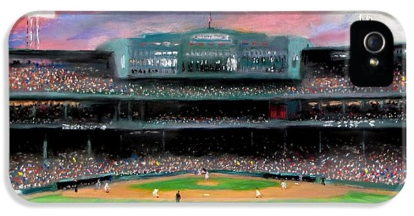 Twilight At Fenway Park IPhone 5 Case by Jack Skinner