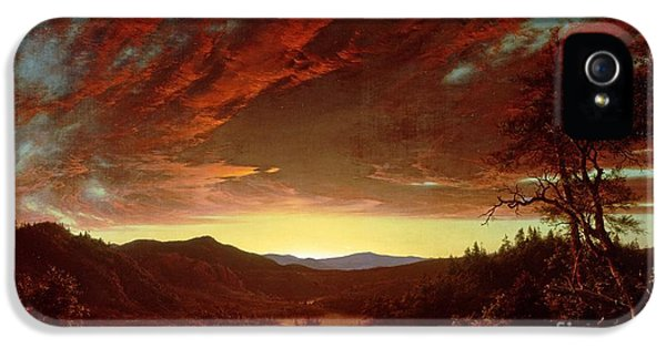 Twilight In The Wilderness IPhone 5 Case by Frederic Edwin Church