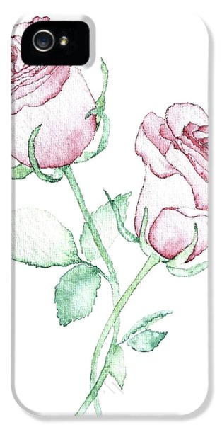Twin Roses IPhone 5 Case by Varpu Kronholm