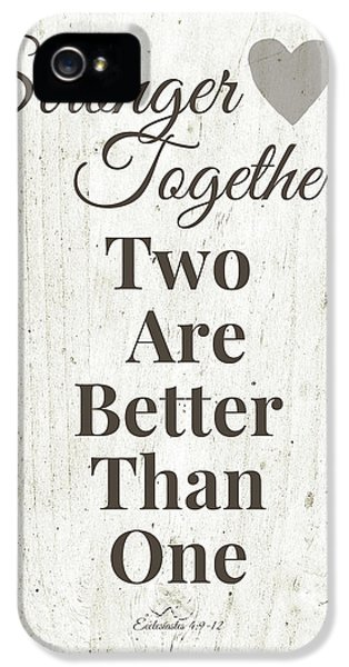 Two Are Better Than One- Art By Linda Woods IPhone 5 Case