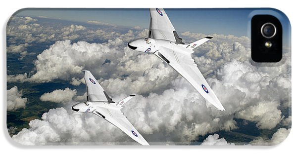 IPhone 5 Case featuring the photograph Two Avro Vulcan B1 Nuclear Bombers by Gary Eason