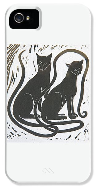 Two Black Felines IPhone 5 Case