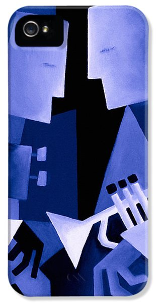 Jazz iPhone 5 Case - Two For The Blues by Thomas Andersen