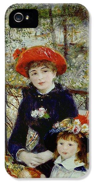 Two Sisters IPhone 5 Case by Pierre Auguste Renoir