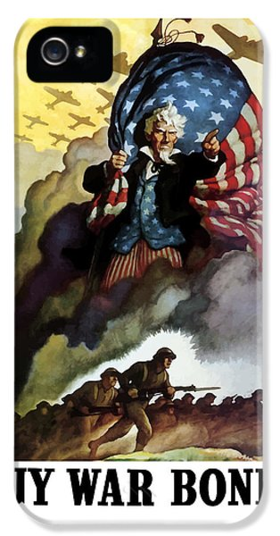 Uncle Sam - Buy War Bonds IPhone 5 Case by War Is Hell Store
