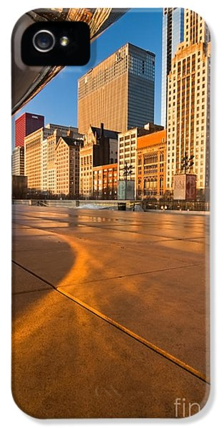 Under The Bean And Chicago Skyline At Sunrise IPhone 5 Case