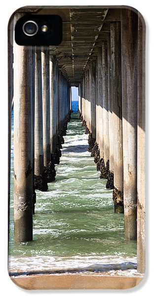 Pillar iPhone 5 Cases - Under the Pier in Orange County California iPhone 5 Case by Paul Velgos