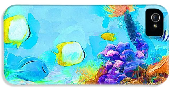 Under The Sea - Coral World IPhone 5 Case