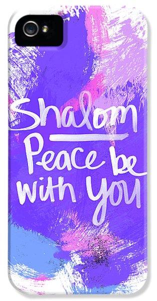 Unicorn Colors Shalom- Art By Linda Woods IPhone 5 Case
