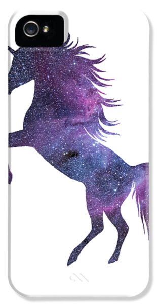 Unicorn In Space-transparent Background IPhone 5 Case