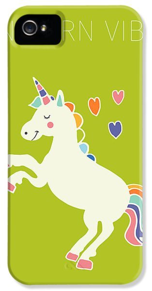 Unicorn Vibes IPhone 5 Case by Nicole Wilson