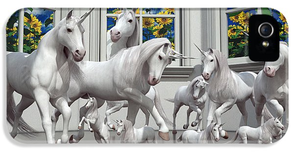 Unicorns IPhone 5 Case by Betsy Knapp