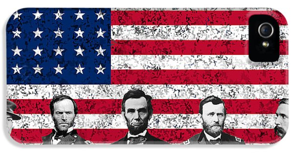 Union Heroes And The American Flag IPhone 5 / 5s Case by War Is Hell Store