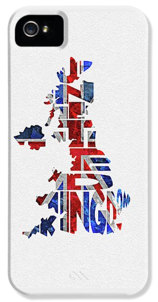 United Kingdom Typographic Kingdom IPhone 5 Case