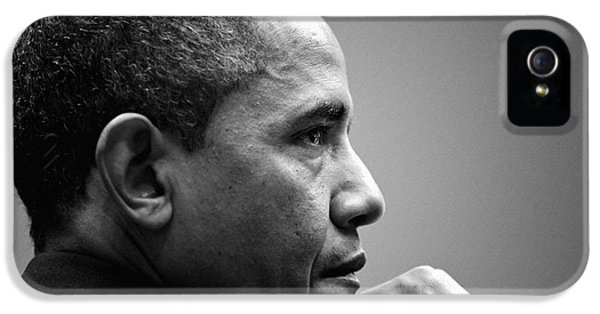 United States President Barack Obama Bw IPhone 5 Case by Celestial Images