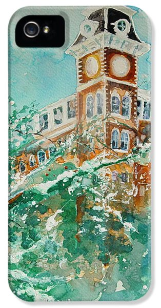 Ice On Old Main IPhone 5 Case by Robin Miller-Bookhout