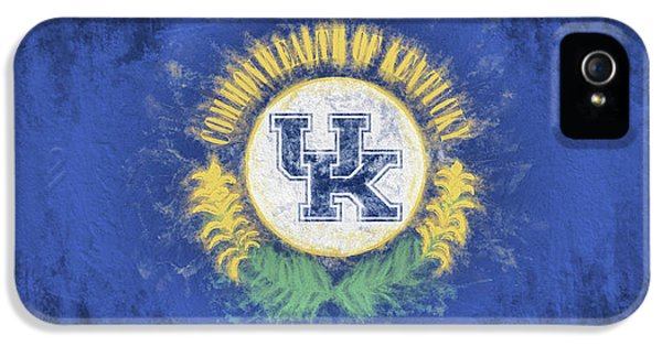 IPhone 5 Case featuring the digital art University Of Kentucky State Flag by JC Findley