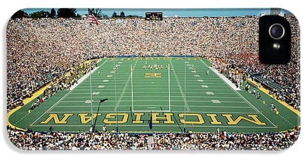 University Of Michigan Stadium, Ann IPhone 5 Case by Panoramic Images