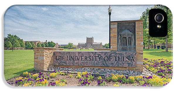 University Of Tulsa Mcfarlin Library IPhone 5 Case by Roberta Peake