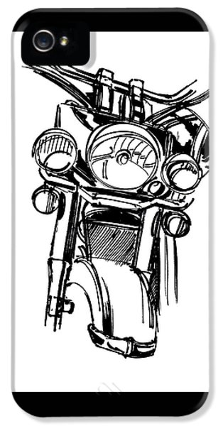 Urban Drawing Motorcycle IPhone 5 Case by Chad Glass