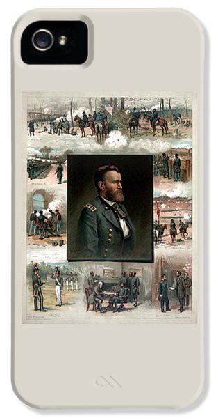 Us Grant's Career In Pictures IPhone 5 Case by War Is Hell Store