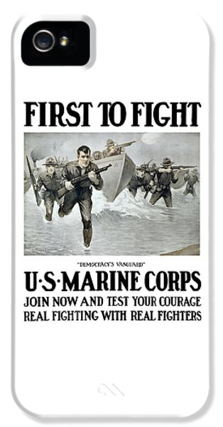 Us Marine Corps - First To Fight  IPhone 5 Case by War Is Hell Store