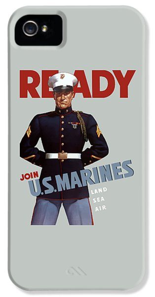 Us Marines - Ready IPhone 5 Case by War Is Hell Store