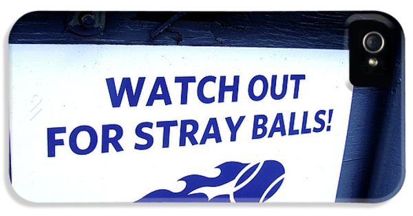 Serena Williams iPhone 5 Case - Us Open Tennis Watch Out For Stray Balls Sign by Nishanth Gopinathan