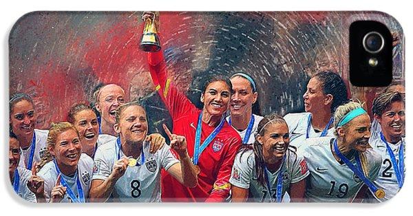 Us Women's Soccer IPhone 5 Case by Semih Yurdabak