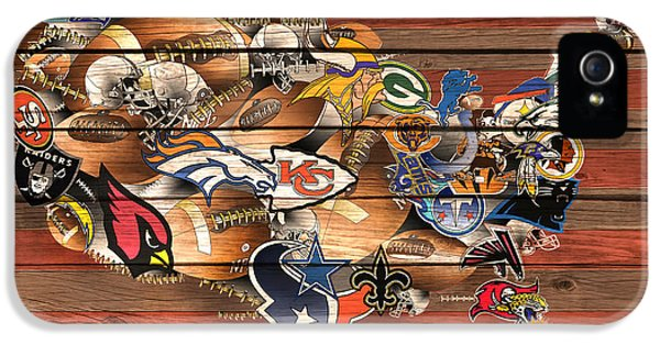 Usa Nfl Map Collage 6 IPhone 5 Case