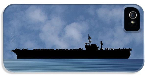 Hawk iPhone 5 Case - Uss Kitty Hawk 1955 V1 by Smart Aviation