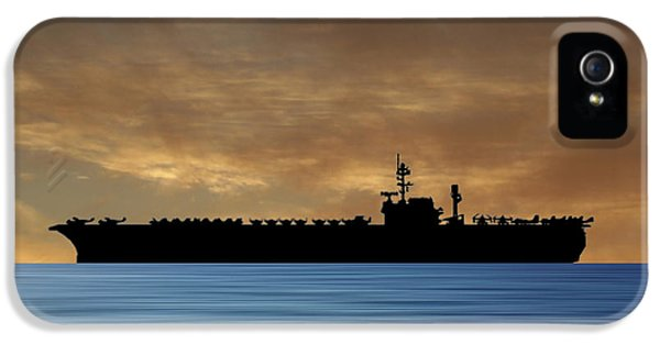 Hawk iPhone 5 Case - Uss Kitty Hawk 1955 V2 by Smart Aviation